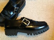 Office Apron Toe Pony Buckle Monk Shoes