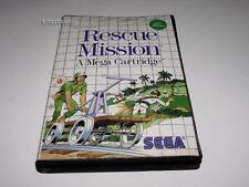 Rescue Mission Sega Master System PAL Preloved *No Manual* Light Phaser Required
