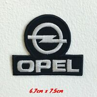 Opel Automobiles motorsports black logo Iron Sew on Embroidered Patch applique