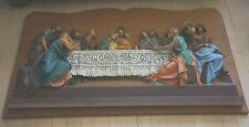 """VINTAGE THREE DIMENSIONAL CHALKWARE RELIEF/LARGE WALL PLAQUE """"THE LAST SUPPER"""""""