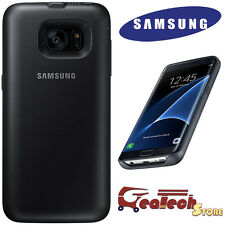 Custodia BACK PACK 3100Mah Originale Samsung Per Galaxy s7 Edge G935F Cover Nera