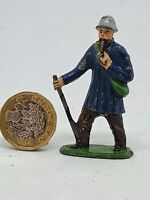 1950s Timpo 54mm hollow-cast lead shepherd figure for farm or railway