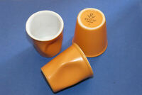 3 TASSES CAFÉ PORCELAINE REVOL 8 cl, ORANGE HAUTEUR 6,5 CM / TB ETAT