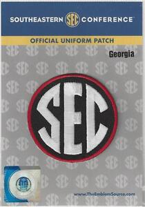 Georgia SEC Conference Jersey Uniform Patch 100% Official College Football Logo