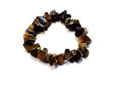 Bijou bracelet pierre oeil de tigre ships sur élastique bangle