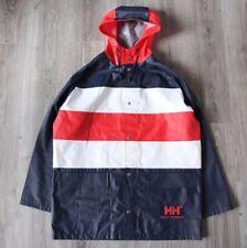 Vintage Mens Helly Hansen Sailing Yachting Rain Mac Navy M Jacket Team Gear RARE