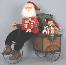 Karen Didion Lighted Delivery Trike Santa Genuine Mohair Beard/Inset Glass Eyes