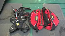 Ruffwear Palisades Harness & Detachable Pack. Medium (M)  Colour Black / Red