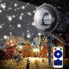 Mini Snowfall Projector Moving Snow Outdoor Garden Laser Lamp Christmas Lights