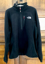 The North Face Mens Summit Series Pullover Black Fleece Top Size Large
