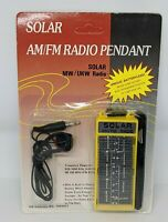 Portable Vintage Radio AM/FM Runs on Solar Power w/ Single Earpiece Headphone