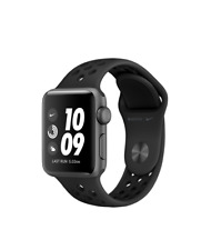 Reloj de Apple Nike + 38mm Gris Espacial Caja de Aluminio Antracita/Negro Deporte Banda..