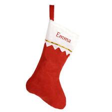 Personalised Christmas Red Stocking Luxury Sack Deluxe Xmas