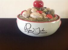"""Louisville Stoneware """"Papa John's"""" Casserole with Pizza Vegetable Cover"""