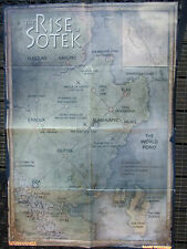A1 DOUBLE SIDED WARHAMMER POSTER RISE OF SOTEK MAP AND CONQUEST OF THE NEW WORLD