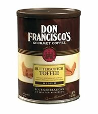 Don Francisco's BUTTERSCOTCH TOFFEE Ground Premium 100% Arabica Coffee Med 1Can