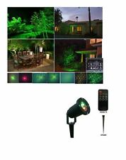 Remote Controllable12 Patterns in 1 Firefly Green and Red Outdoor Garden Light b