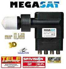 Megasat Multifeed Quad Digital LNB 0,1dB Full HD TV 3D für ab 2° Satelliten NEU