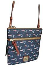 Dooney & Bourke Navy Patriots  Double Zip Crossbody Leather Bag Handbag Purse