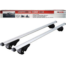 120CM UNIVERSAL ALUMINIUM CAR ROOF BARS RACK LOCKING AERO CROSS RAILS ANTI THEFT