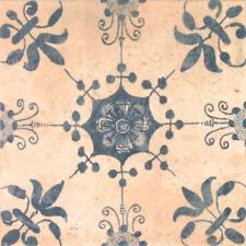 "Spanische Bodenfliese ""Barro Dekor 2"", 20x20 cm, antikes Muster, Wandfliese"