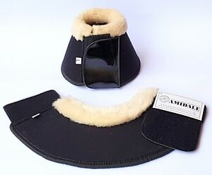 HORSE OVER REACH BELL BOOTS EQUESTRIAN NEOPRENE SHEEP SKIN GREAT QUALITY BNWT