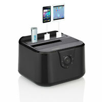 "USB 3.0 Docking Station SATA 2,5"" 3,5"" Festplatten HDD SSD 3x HUB + Ladefunktion"