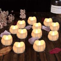 24x LED Teelichter Timer elektrische Teelichter LED Kerzen Teelicht inl Batterie