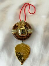 Gold Bag Hanging Car Wall LP Kham Thai Amulet Talisman Lucky Fortune Blessing