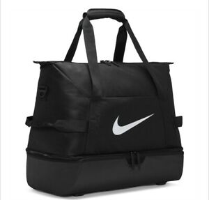 Nike Academy Team Duffel Bag Gym Sports Football Training New Black 53L Large