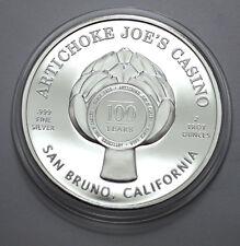 2016 Artichoke Joe's Casino 2 Troy Oz .999 Fine Silver 100 Year Anniversary!!!