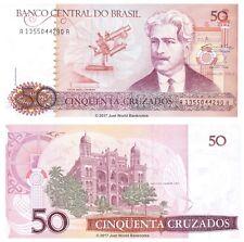 Brazil 50 Cruzados ND (1986)  P-210a Banknotes UNC