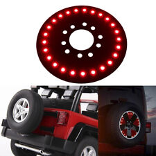 For 1986-2017 Jeep YJ TJ JK Wrangler Spare Tire Wheel LED Brake light Red