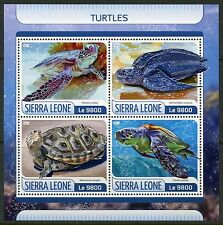SIERRA LEONE  2017  TURTLES  SHEET MINT NEVER HINGED