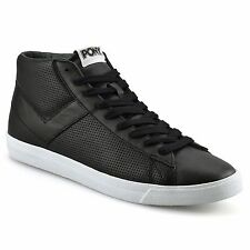 Mens Pony TopStar Hi Leather High Tops Skate Pumps Basketball Trainers Shoe Size