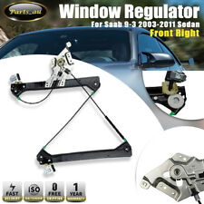 1x Front Right Window Regulator WIithout Motor for Saab 9-3 2003-2011 Sedan