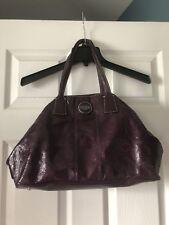 COACH Plum Patent Leather Handbag