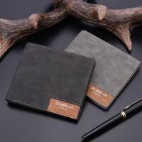 Men Canvas Slim Bifold Purse Wallet Clutch Handbag Credit Card Holder Billfold D