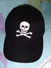 "Marine Sailing Yachting Baseball cap with ""Skull & Crossbone"" emblem embroidered"