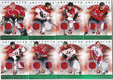 12-13 Artifacts Chris Pronger /75 Jersey PATCH EMERALD Team Canada