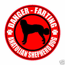 "Farting Anatolian Shepherd Dog Fart 5"" Dog Sticker"