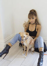 Ariana Grande with Doggie! So Cool!  Top Studio Quality Photo / Poster. Fast UK.