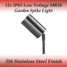 LED Compatible 12 Volt Outdoor Adjustable 316 Stainless Steel Spike Light