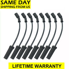 8PCS AC Spark Plugs Wires 9748HH  For GMC Hummer Chevrolet Cady Tahoe 5.3 6.0 V8