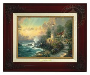 Thomas Kinkade Light of Peace 9 x 12 Canvas Classic (Brandy Frame)