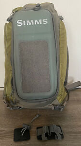 Simms Backpack Sling Pack Unused Excellent Condition Moss Green Lots Of Storage