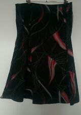 Dorothy Perkins size 16 brown print skirt