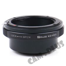 Camera Adapter For Nikon F G Lens to Micro Four Thirds GM1 GX7 GH4 E-M5 E-M10 II