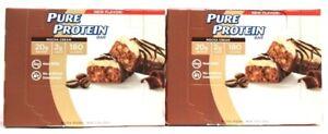 2 Boxes Pure Protein 10.58 Oz Mocha Cream 20g Protein 6 Count Bars BB 5/6/2021
