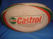 Old Vintage castrol Advertisement Rugby Ball from England 1930